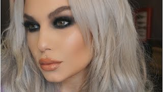 E A S Y  Matte Black Smokey Eyes - Full Face Tutorial