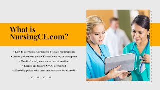 What is NursingCE com? | Earn Your ANCC-Accredited Certificates for Your Nursing License Renewal