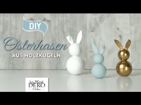 Kleiner Osterhase als Deko - So klappt es mit Holzkugeln