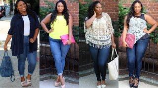 Plus Size Fashion| Fashion To Figure Skinny Jeans