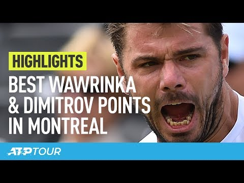 Best Wawrinka & Dimitrov Points In Montreal | HIGHLIGHTS | ATP