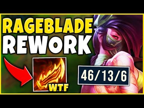 *NEW BUILD* RIOT DID NOT EXPECT THIS (RAGEBLADE BROKE AKALI) - League of Legends