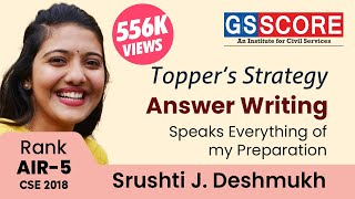 Answer Writing Speaks Everything of My Preparation:Srushti Jayant Deshmukh Women's Topper IAS Rank 5