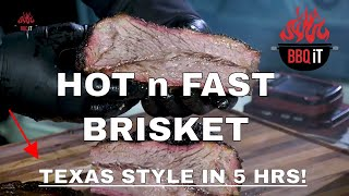 HOW TO SMOKE  BRISKET - HOT AND FAST - TEXAS STYLE - ON A WEBER 26 - 5 HR'S   BBQiT