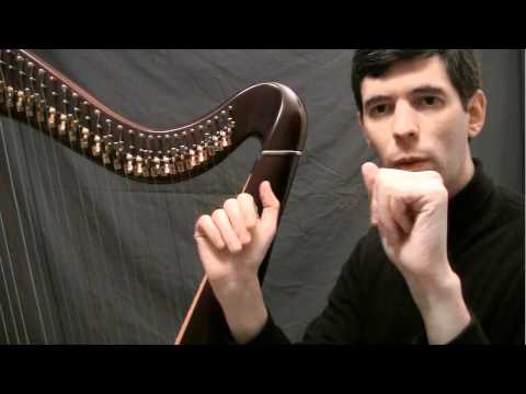 Your first harp lesson - The basic motion to play the harp