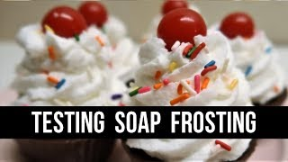 Testing A Soap Frosting Recipe   #12DaysofSoapmas   Royalty Soaps