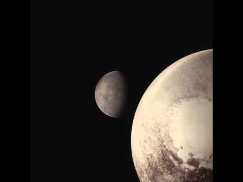 Visualization of New Horizons' Pluto flyby, with occultations of Charon