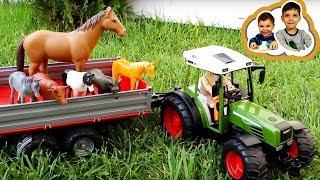 Обзор игрушек Распаковка трактор Bruder Fendt 02104 Играем трактором Брудер Видео для детей #Bruder