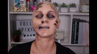 Full Zombie Halloween Makeup Tutorial