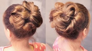Hairstyle for school - Пучок на резинках - быстро! - Hairstyles by REM