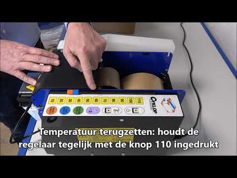 Lapomatic: Temperatuur warmteplaat wijzigen
