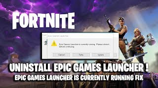 epic games launcher is currently running error - TH-Clip