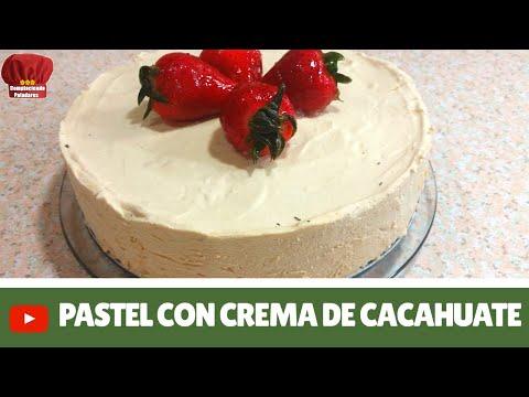 Pastel de queso crema y crema de cacahuate sin horno -Complaciendo Paladares