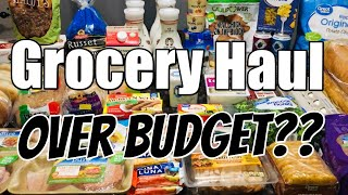 WEEKLY GROCERY HAUL  🛒 | 3 Stores!! 🥖 🍞 🥯 | OVER BUDGET?