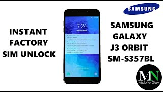 SIM Unlock Simple Mobile / Family Mobile Samsung Galaxy J3 Orbit For Use On GSM Carriers!