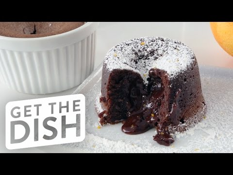 How To Make Chocolate Molten Lava Cake | Get The Dish
