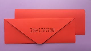 How To Make A Paper Birthday Party Invitation Card | Easy Origami Birthday Party Invitation Card