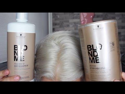 SCHWARZKOPF BLONDME BLEACH | REVIEW & DEMO | ACHIEVE WHITE HAIR
