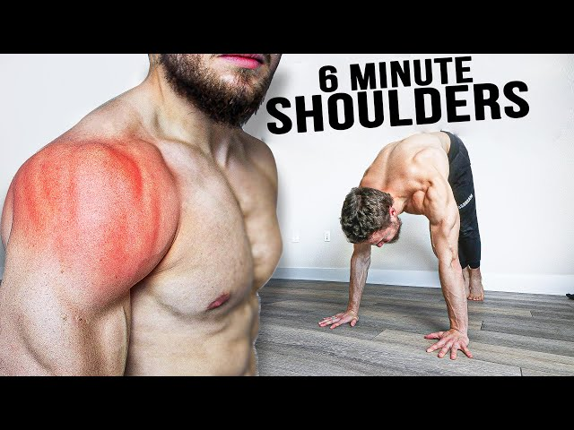 6 MIN Quick SHOULDERS Workout At Home (NO EQUIPMENT)