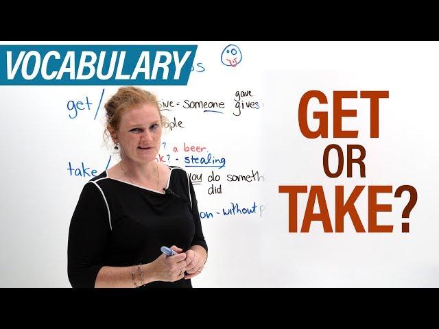 Pronunție video a take în Engleză