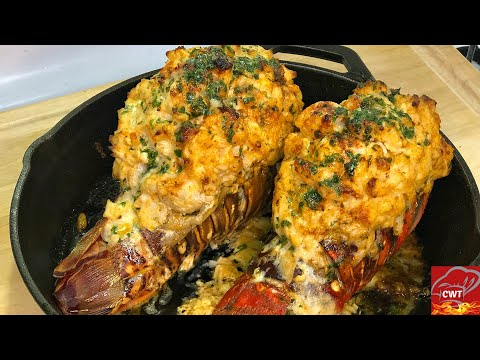 Seafood Stuffed Lobster Tail Recipe