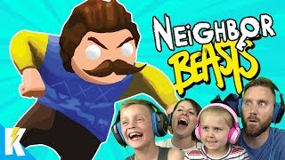 Hello Neighbor in Gang Beasts! (Family Battle Part 3) KIDCITY GAMING