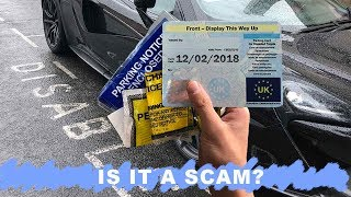 BLUE BADGE ABUSE - Can you have a disability and a super car?