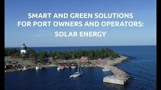 Green solutions for port owners: Solar energy
