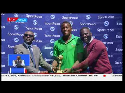 Mchezaji wa Nzoia Sugar Brian Otieno atuzwa kama mchezaji bora wa ligi kuu ya kandanda