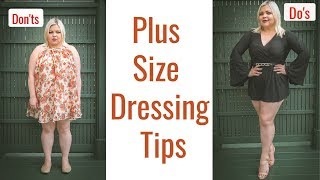 Style Guide For Plus Size - Dressing Tips Dos And Donts /UPDATED 2019