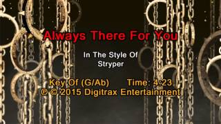 Stryper - Always There For You (Backing Track)