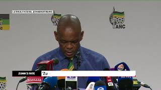 Ace Magashule announces decision to recall President Zuma