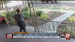 Shooting involving people on bicycles caught on camera in Tampa Heights
