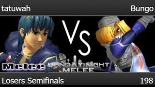 MNM 198 - tatuwah (Marth) vs RB | Bungo (Sheik) Losers Semifinals - Melee