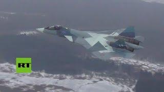 El caza ruso de 5ª generación T-50 estrena con éxito su nuevo motor