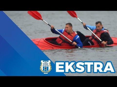 Kajakowa wyprawa piłkarzy Stomilu Olsztyn