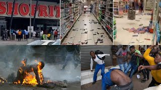 South Africa Xenophobic attack: Nigerians Protest and Attack South Africa owned SHOPRITE Mall Lekki.