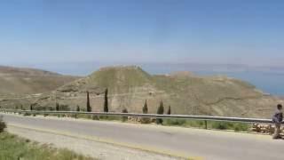 preview picture of video 'ירדן - תצפית על ים המלח באזור מצפה שלם בישראל ועל מצודת מכוור של הורדוס בירדן'