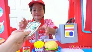 ハンバーガー屋さんごっこ レタスを忘れた!!? マクドナルド 食べかけ!?? おゆうぎ こうくんねみちゃん