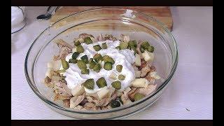 Insalata di Pollo con Salsa allo Yogurt Greco