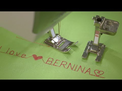 Sewing decorative stitches and letters with the B 475 QE