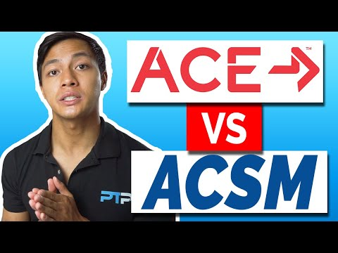 ACE vs ACSM Certification- Which is better in 2021? ♂️ - YouTube