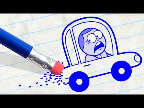 Pencil is Driving Pencilmate Crazy! MEGA MAD PENCILMATION COMPILATION - Cartoons for Children