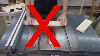 A step-by-step guide to making your first table saw cuts. TABLESAW BASICS.