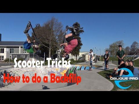 Scooter Tricks - How to do a Backflip