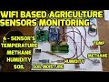 Smart Farming: Wifi Based Agriculture Sensors (Temperature, Humidity and moisture) Android App