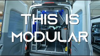 This Is Modular -- New video highlighting the versatility of a VanDOit Camper Van built on the Ford