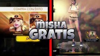 CONSEGUIR A MISHA LA NUEVA PERSONAJE COMPLETAMENTE GRATIS!!!   FREE FIRE BATTELGROUNDS
