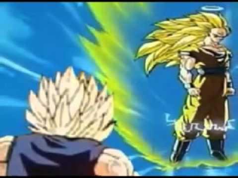 DBZ Super Saiyan 3 Goku VS Majin Vegeta English