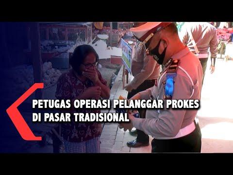 polisi masih temukan pengunjung pasar yang tidak taat protokol kesehatan
